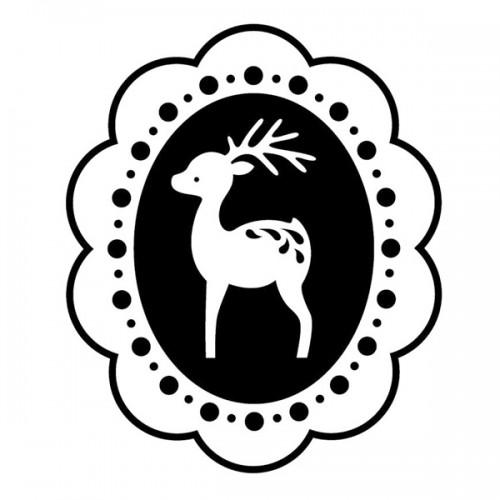 Wooden stamp - Medallion Reindeer