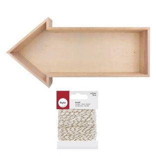 Etagère bois Flèche 40 x 20 cm +...
