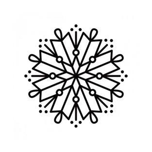 Tampone di legno - fiocco di neve 8 rami