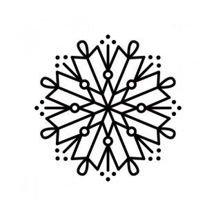Wooden stamp - Snowflake 8 branches