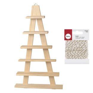 Etagère bois chevalet 6 planches 30 x...