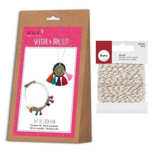 Bracelet and necklace creation kit...