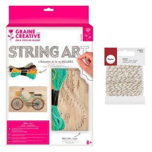 Holzrahmen String Art 30 x 20 cm...