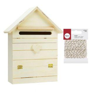 Buzón de madera para personalizar 22...