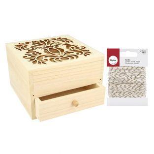 Boîte à bijoux bois à décorer 16 x 16...