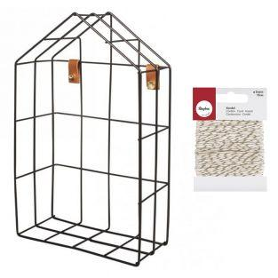 House Wire Shelf 16 x 7 x 25 cm Black...