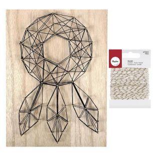 Set String Art Wooden Board...
