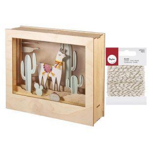 3D Decorative wood frame 24 x 20 x...