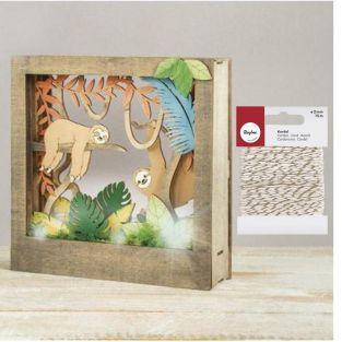 Marco de madera con escena 3D 24 x 24...