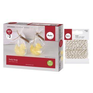 DIY soap box Duck + golden & white...