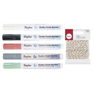 Kit 5 marcadores de tiza con punta...