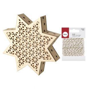 Wooden LED Lamp Christmas Star +...
