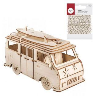 Maquette bois 3D Camping Car 30 x 13...