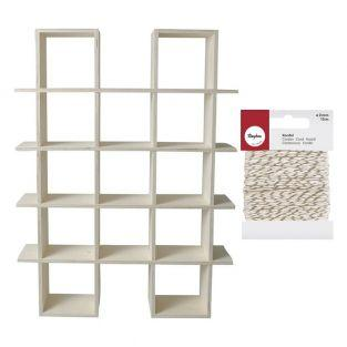 Mensola in legno a 4 livelli per...