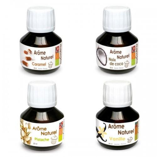 Set of 4 pastry food flavorings