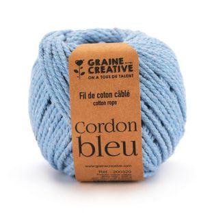 Cotone macramè ø 2,5 mm x 80 m - azzurro