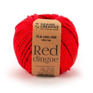 Cotone macramè ø 2,5 mm x 80 m - rosso