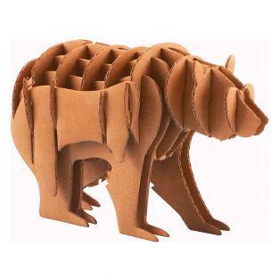 Maquette d'ours en carton 13 x 8,5 x...