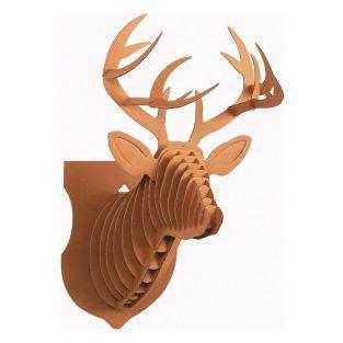 Cardboard Reindeer wall Trophy - XL...