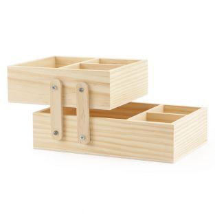 Caja de madera deslizante 20 x 13 x...