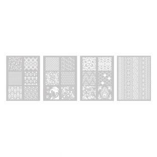 4 polymer clay stencils 11.4 x 15.3...