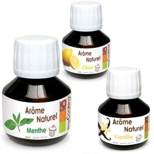 Coffret 3 arômes alimentaires Mojito