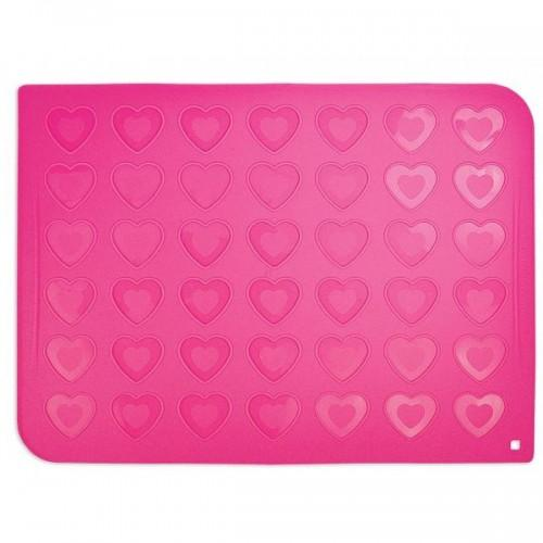 Silicon mat with hearts for macaroons