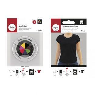 Fixierer + Textilfarbe für...