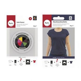Fijador + tinte textil para lavadora...