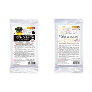 Pâte à sucre noire 250 g & blanche 250 g