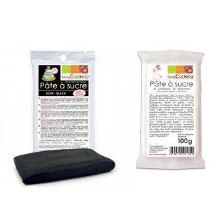 Black sugar paste 100 g & white sugar...