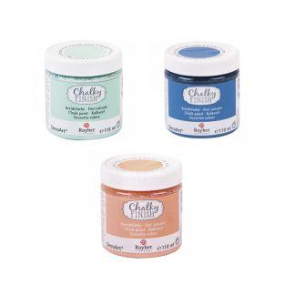 Pintura tiza Chalky Finish 118 ml x 3...