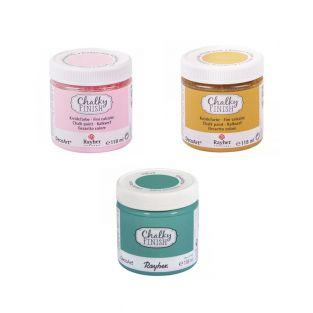 Chalky Finish Chalk Paint 118 ml x 3...