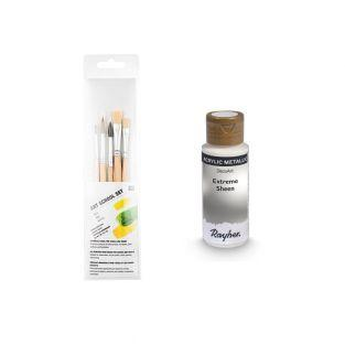 Silver metal acrylic paint 59 ml + 3...