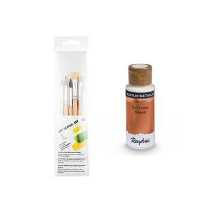 Copper metal acrylic paint 59 ml + 3...