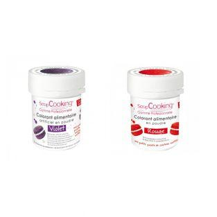 2 powdered food colorings - red-violet