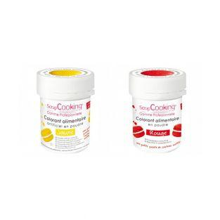 2 powdered food colorings - red-yellow
