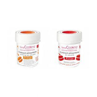 2 powdered food colorings - red-orange