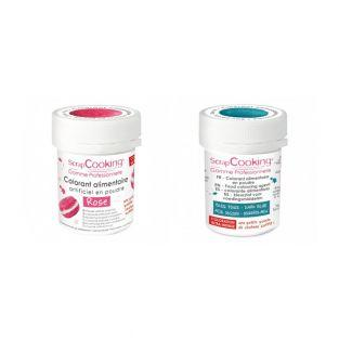 2 powdered food colorings - pink-dark...