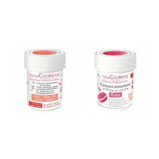 2 powdered food colorings - pink-coral