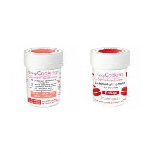 2 powdered food colorings - red-coral