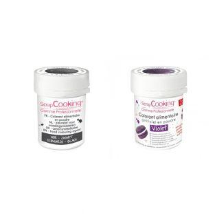 2 powdered food colorings - black-violet