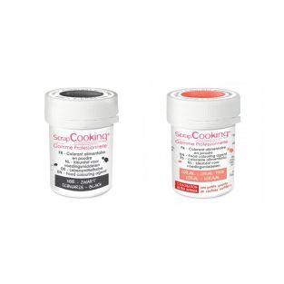 2 powdered food colorings - black-coral