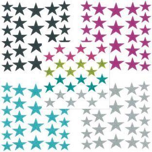 Stickers étoiles à paillettes