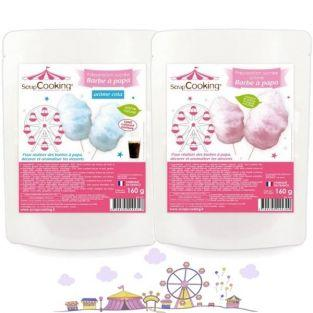 Cotton candy preparation - blue & pink