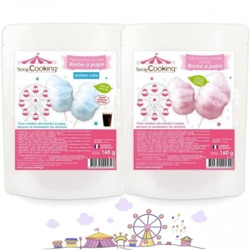 Cotton candy preparation - blue & pink