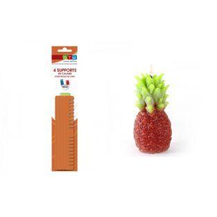 Molde de vela de látex Piña + soportes
