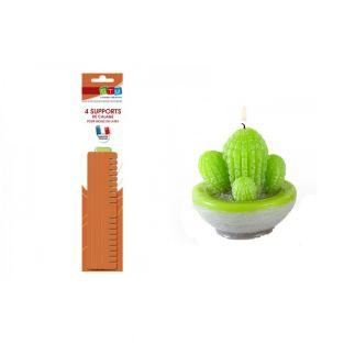 Cactus latex candle mold + supports