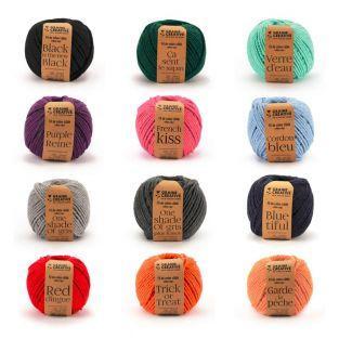 12 bobines de fil en coton pour macramé