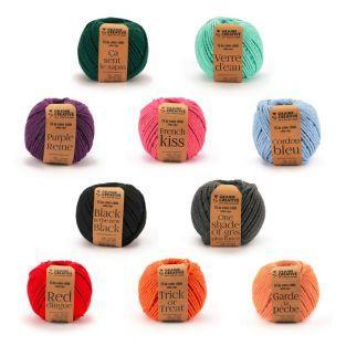 10 bobines de fil en coton pour macramé